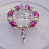 Key Wine Glass Charms